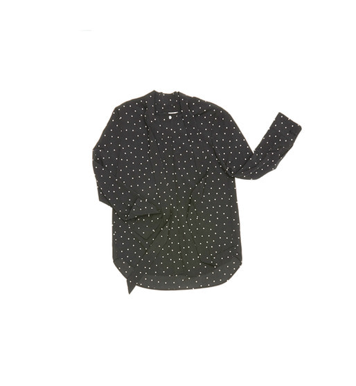 [AND YOU] NAPOLI classic tie blouse (Black polka dot)