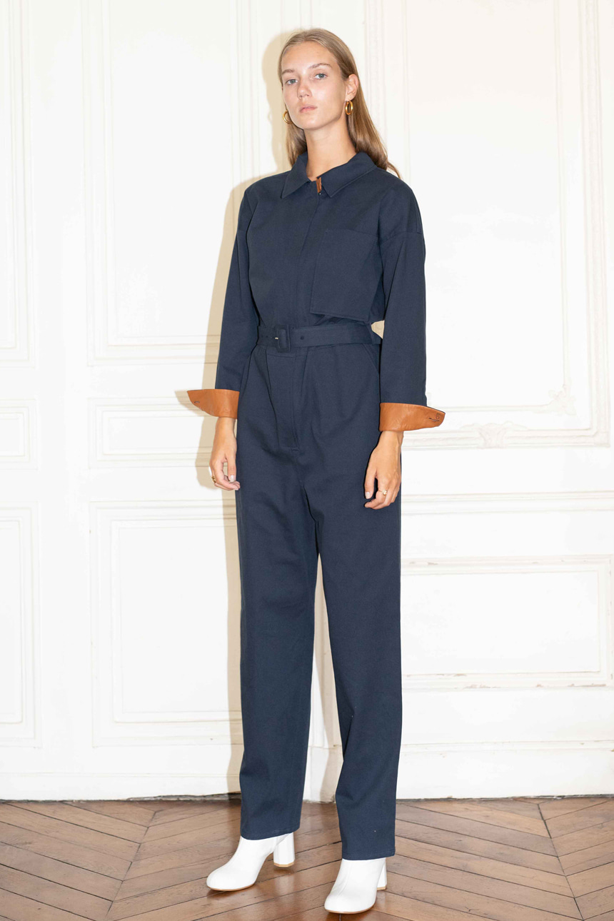 [앤유]SAINT-HONORE jumpsuit (Navy)
