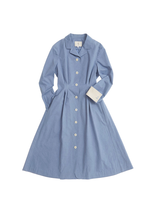 FLORENCE shirt dress (Corn flower blue)
