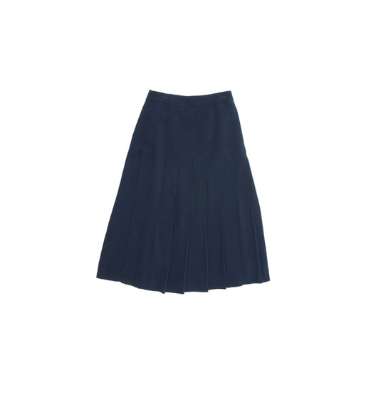 [AND YOU] VENICE pleated skirt (Royal navy)