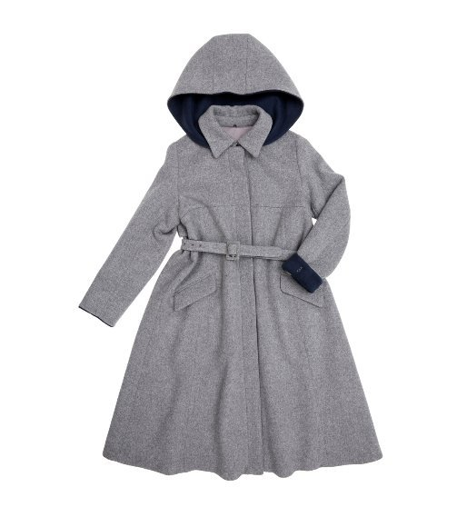 [앤유] SOKCHO A-line hoodie coat (Light gray & Navy)