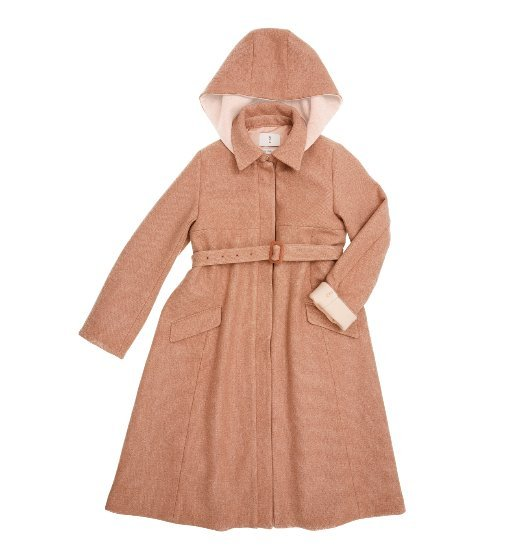 [AND YOU] SOKCHO A-line hoodie coat (Pink Beige & Light beige)