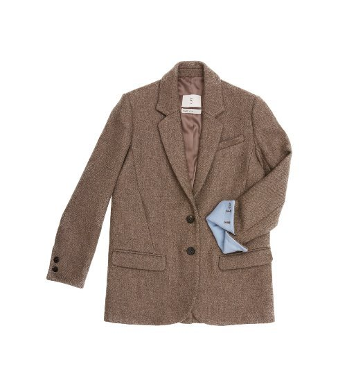 [AND YOU] PARIS two button blazer (Sand brown & Baby blue)