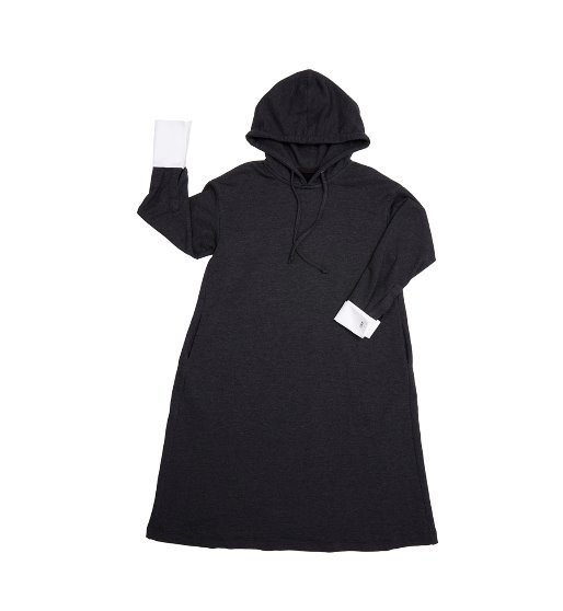 [앤유] BRISBANE hoodie dress (Washed black & White)
