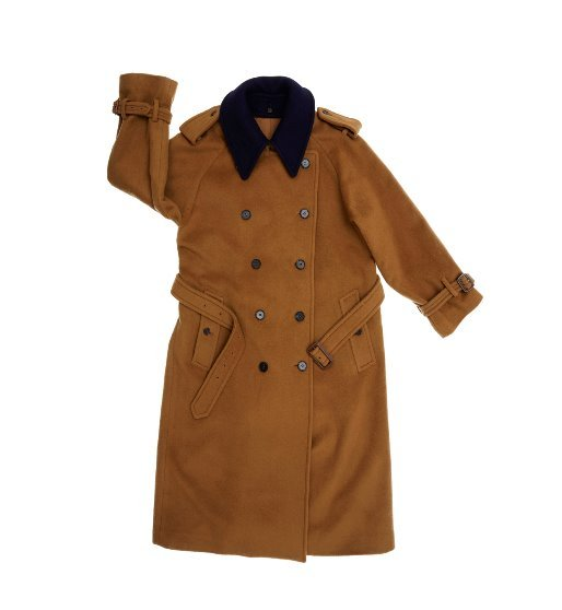 [앤유] [한지민 착용]HAMBOURG trench wool coat (Camel brown & Navy)