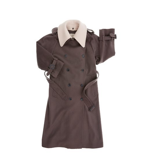 [앤유] HAMBOURG trench wool coat (Mild Gray & Cream)