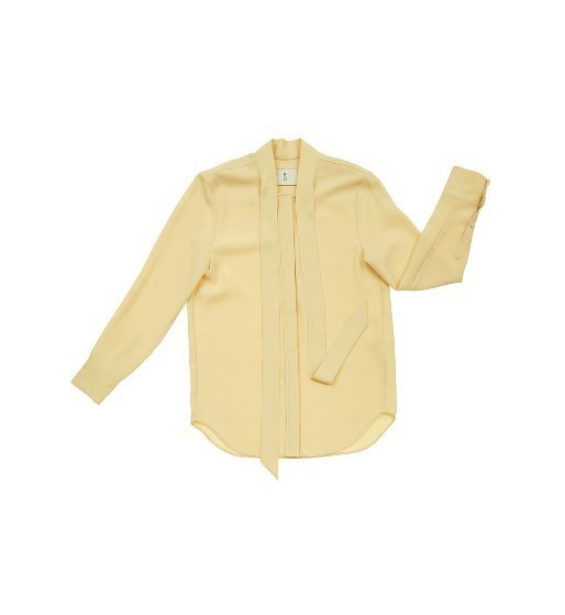 [앤유][박민영 착용]NAPOLI long sleeve tie blouse (Custard)