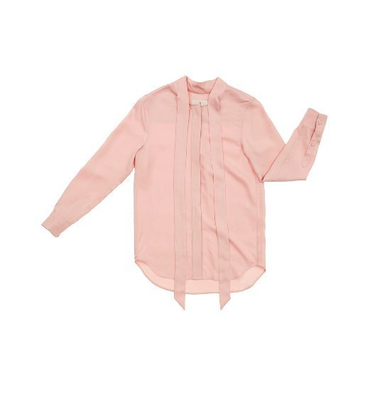 [앤유] NAPOLI long sleeve tie blouse(Baby pink)