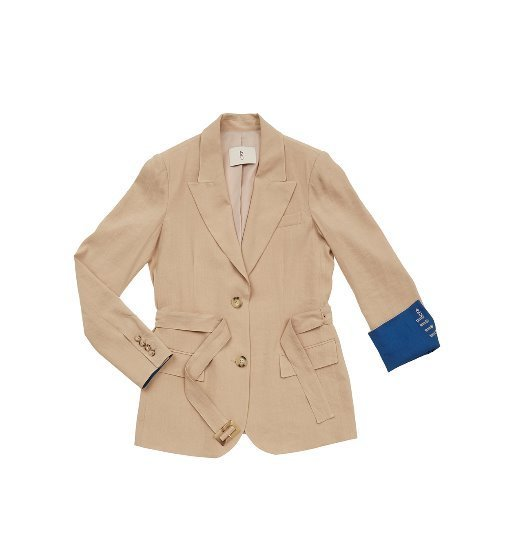 [앤유] STOCKHOLM two button blazer (Royal beige & Cobalt blue)