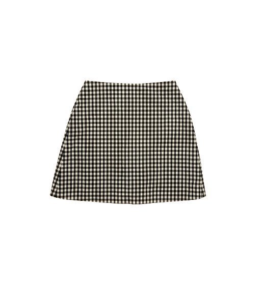 [앤유][시즌 세일]PARIS short skirt (Black gingham check)