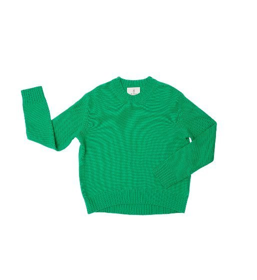 [앤유] CENTRAL PARK round knit (Fresh green)
