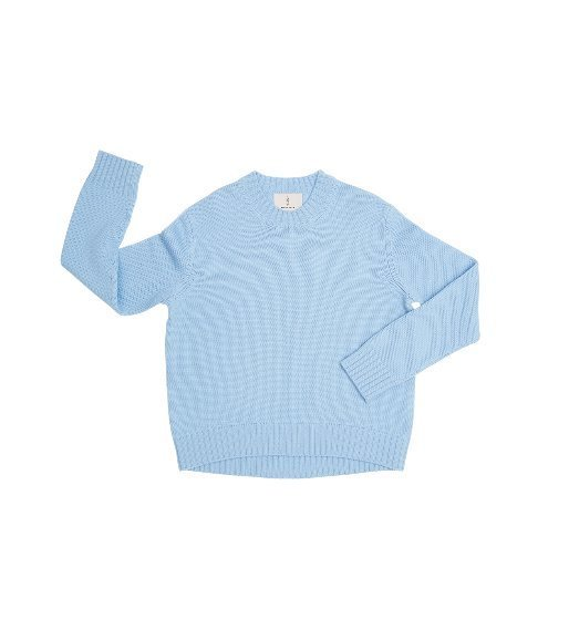 [앤유] CENTRAL PARK round knit (Candy blue)