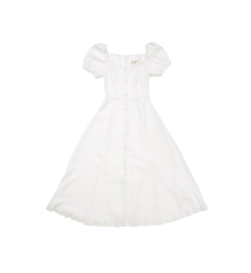 [앤유][이민정 착용 WINDSOR TERRACE  square neck dress (White)