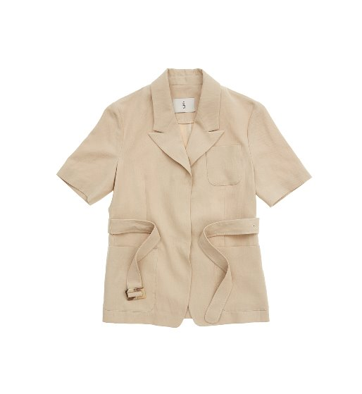 [앤유]GRAMACY out pocket short sleeve blazer (Royal Beige)