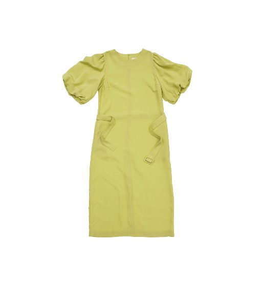 [앤유] SOHO  short balloon sleeve dress (Lime)
