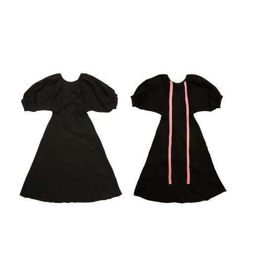 [앤유]MURRAY HILL glamorous short sleeve dress (Black)