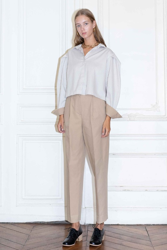 [앤유][시즌 세일]TUILERIES pin tuck trousers (Beige)