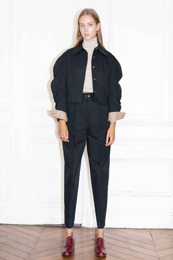 [앤유][시즌 세일]TUILERIES pin tuck trousers (Black)