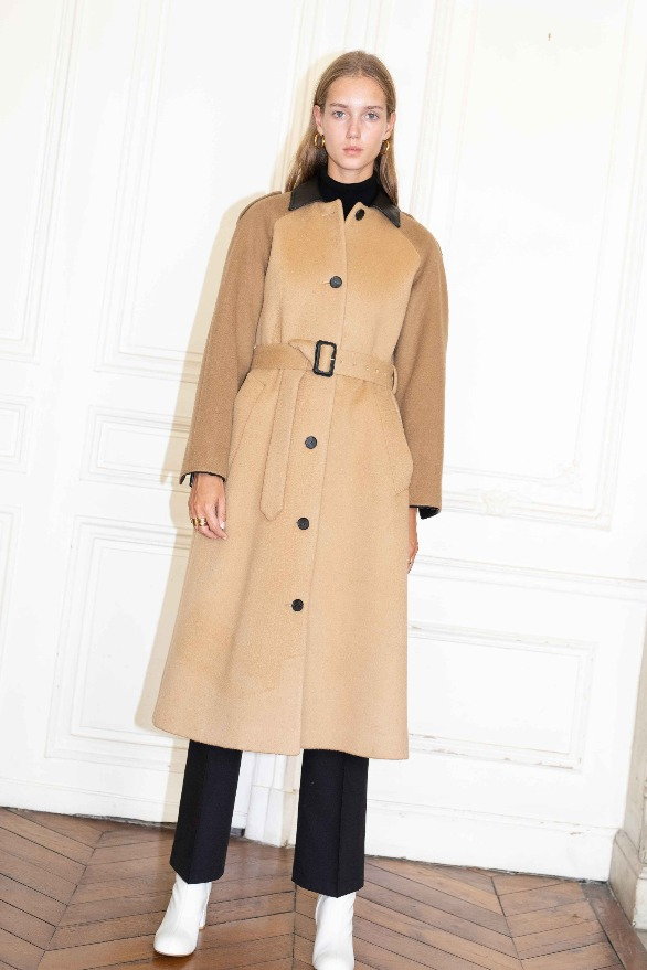 [앤유][시즌 세일]VICTOR HUGO single button coat Camel,Brown