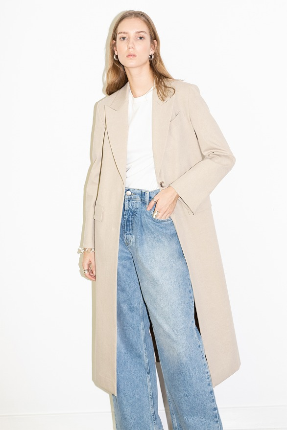 [앤유]BURBANK oversized button coat (Oatmeal)