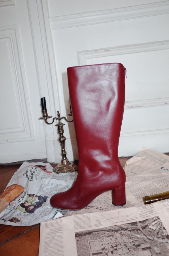 LA SEINE long boots Burgundy