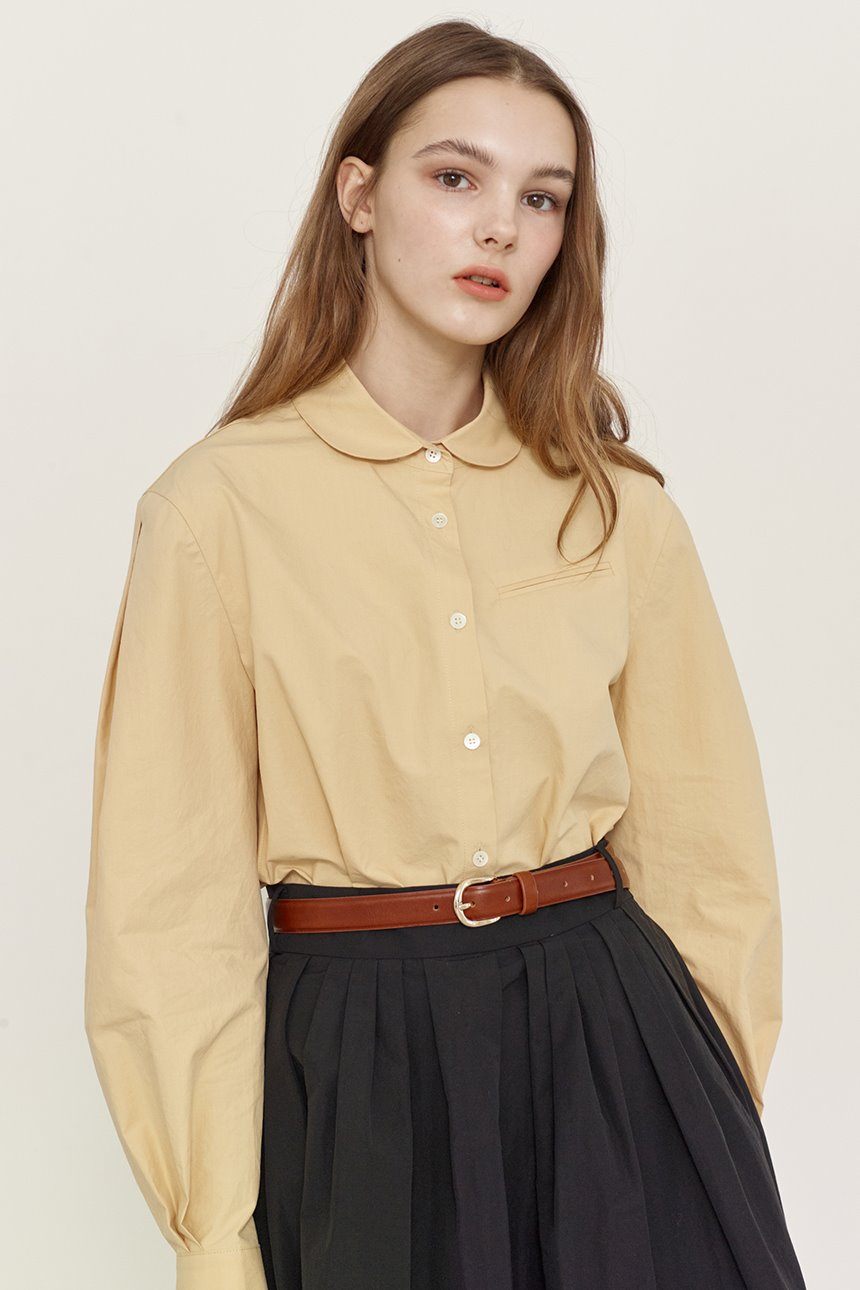 SAEBYEOL Shirred long sleeve blouse (Butter)