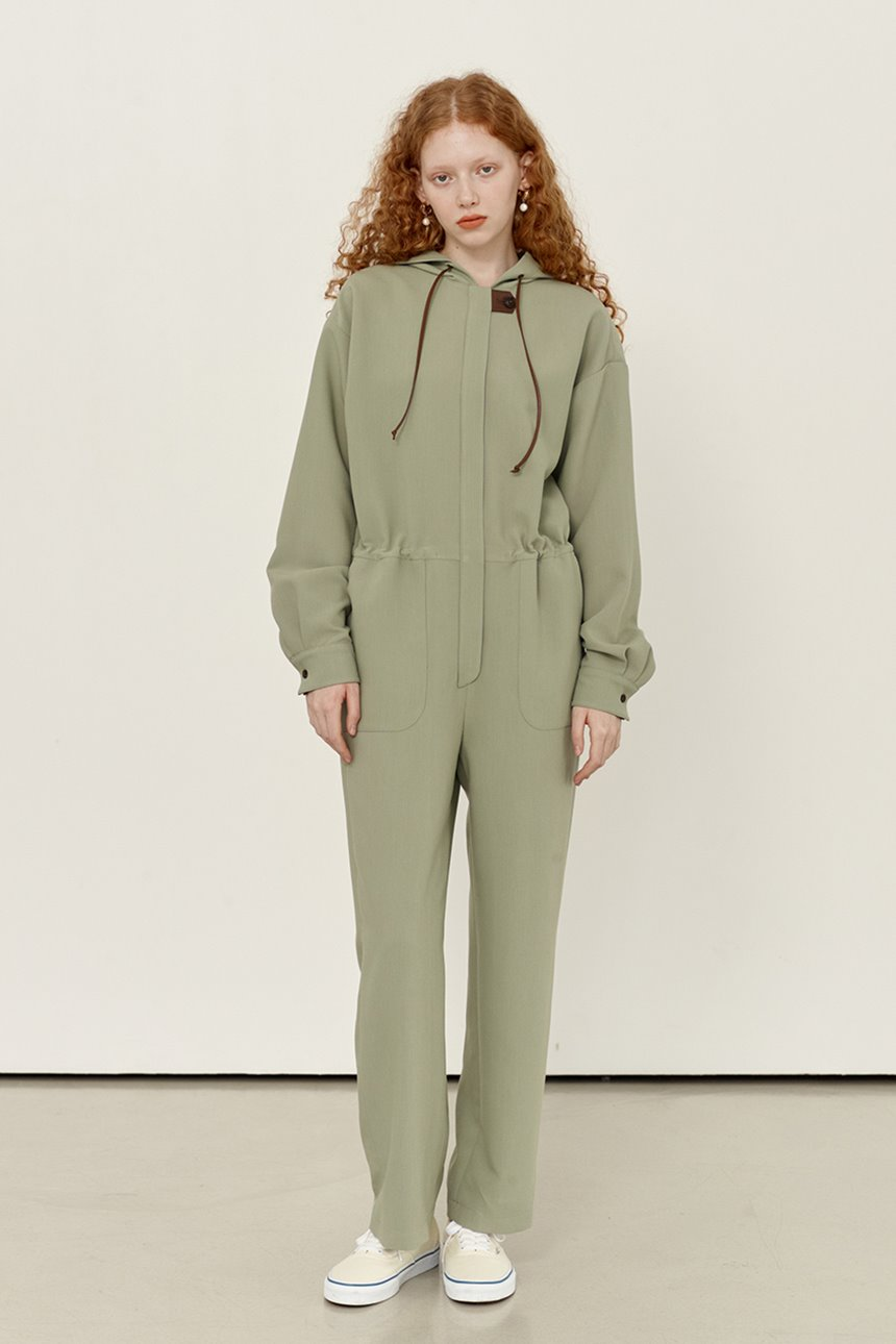 [앤유티비]JOCHEON Hoodie jumpsuit (Light mint)