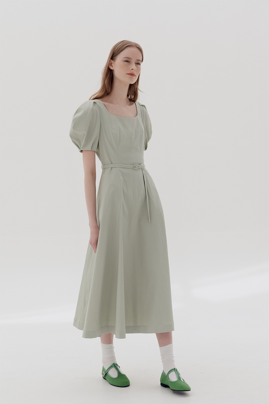 WOLJEONGRI Scoop neck dress (Light mint)