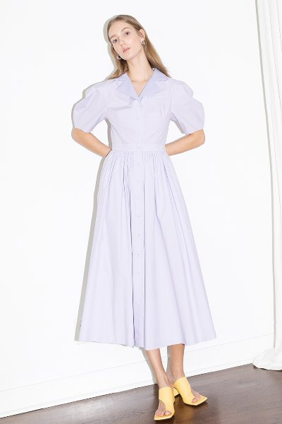 [차정원, 조우리착용]HOLLYWOOD shirred waist detail dress (Lilac)