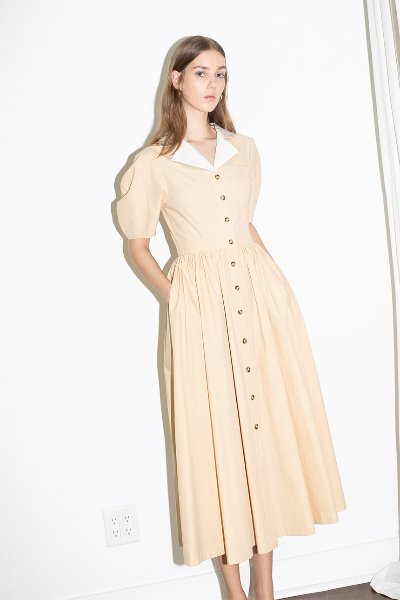 [김나영 노필터 TV][윤승아착용] HOLLYWOOD shirred waist detail dress (Butter)